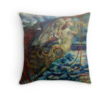 figurehead or ... fishing Throw Pillow