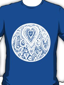 Valentine Circle of Hearts Aussie Tangle - White - See Description Notes re Colours T-Shirt