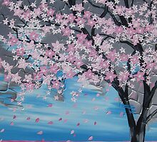 Blossoms blowing in the wind by cathyjacobs
