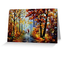 Rain In Woods — Buy Now Link - www.etsy.com/listing/217429651 Greeting Card