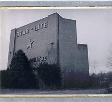Star Lite Drive In B&W by Steven Godfrey