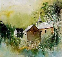 watercolor sosoye belgium by calimero