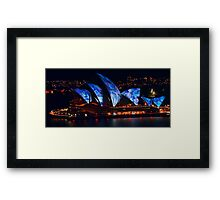 Vivid Sydney 2011 revisited Framed Print