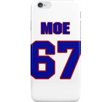 Basketball player Moe Becker jersey 67 iPhone Case/Skin