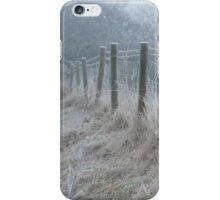 The ice covered rickety fence iPhone Case/Skin
