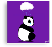 Sad panda Canvas Print