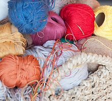 wool in basket by spetenfia