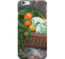 fruit and vegetables in the basket iPhone Case/Skin