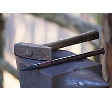 hammer and anvil Photographic Print