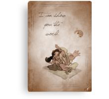 Aladdin inspired valentine. Canvas Print