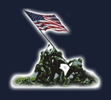 American War Flag, USA, Raising the Colours, Iwo Jima, America, WW2, WWII by TOM HILL - Designer
