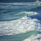 Fistral surfer by M G  Pettett