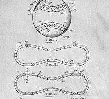 Baseball original patent art by Edward Fielding