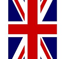 British Union Jack Flag, 1;2 UK, United Kingdom, Portrait, Pure & simple  by TOM HILL - Designer