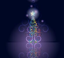 Greeting card design with abstract Christmas tree 3 by AnnArtshock