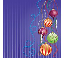 Card with glossy balls Photographic Print