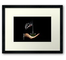 The USA is in His Hands... Framed Print
