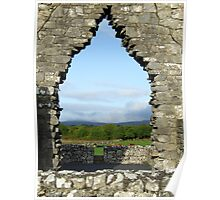 Kilmacduagh church arch view Poster