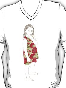 Little girl in a dress T-Shirt