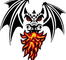 asymmetric black dragon by aspa