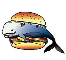 Whale Burger Photographic Print