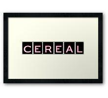 Cereal, the Podcast Framed Print