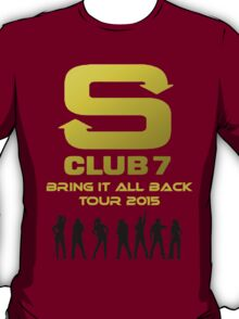 S Club 7 Bring It All Back Tour 2015 T-Shirt