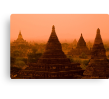 Stupas In The Mist Canvas Print