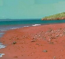 red dirt beach by happyphotos