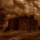 weobley castle sepia by zacco
