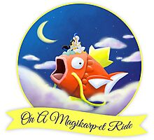 On a Magikarpet Ride Photographic Print