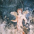 Angel fresco from Pompeii, Italy by Elana Bailey