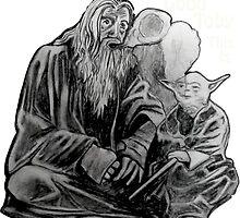 Gandalf and Yoda by Mindchatter