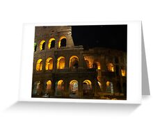 The Colosseum at night Greeting Card