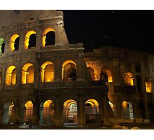 The Colosseum at night Photographic Print
