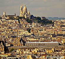 France - Sacre Coeur and City by jezebel521