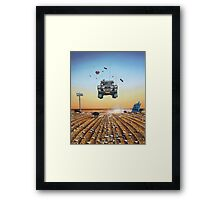 Are We There Yet?! Moonie. Framed Print