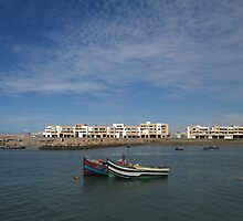 Fishing Boats on the River Bou Regreg in Rabat, Morocco by amandano2
