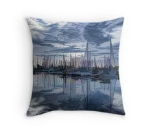 Sailboat Summer Impressions Throw Pillow