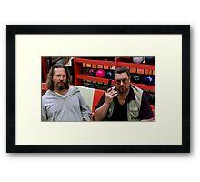 Jeff Bridges and John Goodman @ The Big Lebowski Framed Print