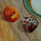 PEACH & CLAY APPLE by Marty Yokawonis