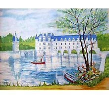 Chateau Chenonceau watercolor painting Photographic Print