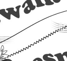Sounds Hawaiian - Black Text Sticker