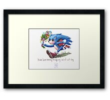 Rag doll Sonic the Hedgehog Framed Print