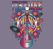 Peace, Love and Music Kids Clothes