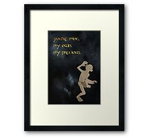 The Lord of the Rings inspired valentine (1/3). Framed Print