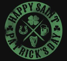 Saint Patrick's Day Green Badge Logo by celthammerclub