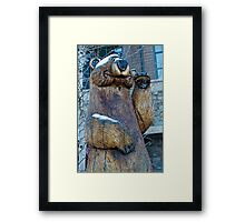Welcoming Bear Framed Print