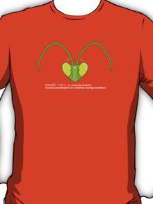 Male Mantis Misfortune: Dark T-Shirt