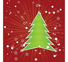 Christmas tree green applique Photographic Print